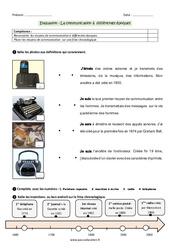 Communication à différentes époques – Examen Evaluation : 3eme Primaire