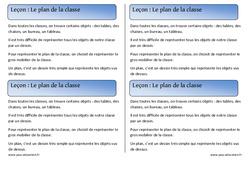 Plan de la classe – Cours, Leçon – Espace : 1ere Primaire