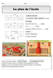 Plan de l'école – Exercices – Espace : 1ere Primaire