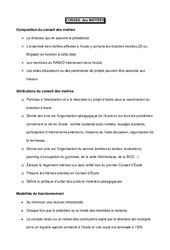Conseil des maîtres – Directeurs / Direction d'école : Primaire – Cycle Fondamental