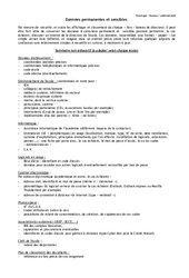 Liste des données sensibles à conserver – Directeurs / Direction d'école : Primaire – Cycle Fondamental