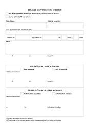 Demande d'autorisation d'absence pour un(e) EVS – Directeurs / Direction d'école : Primaire – Cycle Fondamental