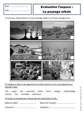 Paysages urbains – Examen Evaluation – Espace : 1ere Primaire