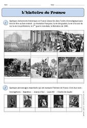 Histoire de France – Traces du passé – Temps – Exercices : 1ere Primaire