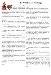 Le Petit Renne au Nez Rouge – Lecture compréhension de Noël : 3eme, 4eme, 5eme Primaire