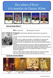 Arbres d'hiver à la manière de Klimt – Arts plastiques : Primaire – Cycle Fondamental