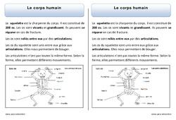 Corps humain – Trace écrite – Découverte du monde – Cours, Leçon : 1ere Primaire