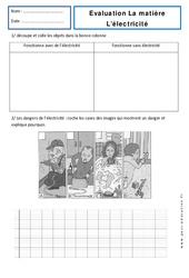 Electricité – Examen Evaluation : 1ere Primaire