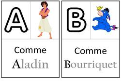 Abécédaire – Personnages fantastiques – Affichages pour la classe : 1ere, 2eme, 3eme Maternelle – Cycle Fondamental