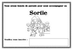 Affiche accompagnement sortie – Affichages pour la classe : 1ere, 2eme, 3eme Maternelle – Cycle Fondamental