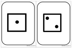 Cartes dés – Affichages pour la classe : 1ere, 2eme, 3eme Maternelle – Cycle Fondamental