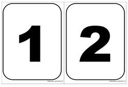 Cartes nombres – Affichages pour la classe : 1ere, 2eme, 3eme Maternelle – Cycle Fondamental