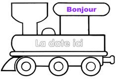 Petit train – Emploi du temps – Journée – Affichages pour la classe : 1ere, 2eme, 3eme Maternelle, 1ere Primaire