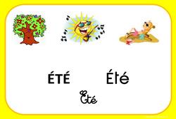 Eté – Saison – Affichages pour la classe : 1ere, 2eme, 3eme Maternelle, 1ere Primaire