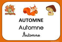 Automne – Saison – Affichages pour la classe : 1ere, 2eme, 3eme Maternelle, 1ere Primaire