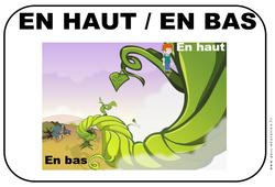 Haut – Bas – Affichages pour la classe : 1ere, 2eme, 3eme Maternelle – Cycle Fondamental