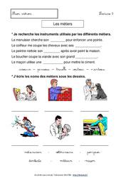 Métiers – Lecture compréhension – Français : 1ere, 2eme Primaire