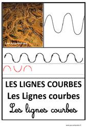 Lignes courbes – Graphisme – Affichages pour la classe : 1ere, 2eme, 3eme Maternelle – Cycle Fondamental