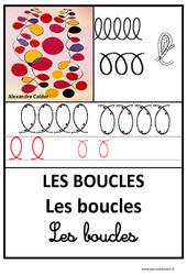 Boucles – Graphisme – Affichages pour la classe : 1ere, 2eme, 3eme Maternelle – Cycle Fondamental