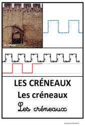 Créneaux – Graphisme – Affichages pour la classe : 1ere, 2eme, 3eme Maternelle – Cycle Fondamental