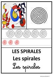 Spirales – Graphisme – Affichages pour la classe : 1ere, 2eme, 3eme Maternelle – Cycle Fondamental