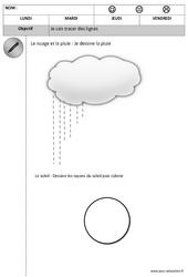 Horizontal – Vertical – Tracer des lignes – Graphisme : 1ere, 2eme Maternelle – Cycle Fondamental
