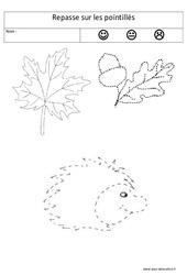 Repasse sur les pointillés – Graphisme : 1ere, 2eme Maternelle – Cycle Fondamental