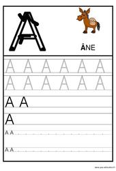 Alphabet – Ecrire les lettres – Ecriture : 1ere, 2eme Maternelle – Cycle Fondamental