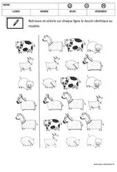 Discrimination visuelle – Lecture : 1ere, 2eme Maternelle – Cycle Fondamental