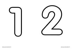 Chiffres de 1 à 5 à décorer – Ecriture – Petite – Moyenne et  – 2 : 1ere, 2eme, 3eme Maternelle – Cycle Fondamental