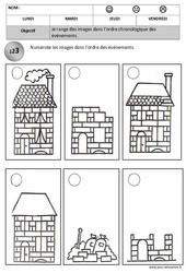 Ordre chronologique – Images séquentielles – Temps : 2eme, 3eme Maternelle – Cycle Fondamental