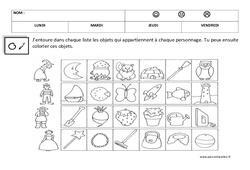 Associer des objets – Logique : 1ere, 2eme Maternelle – Cycle Fondamental