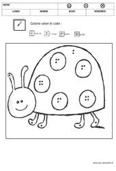 Coloriage magique 1,2,3,4,5 – Quantités et nombres : 1ere, 2eme Maternelle – Cycle Fondamental