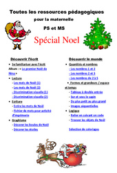 Noël – Dossier pédagogique – Toutes les ressources pour la maternelle- Fiches Petite et  : 1ere, 2eme Maternelle – Cycle Fondamental