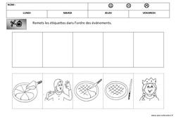 Images séquentielles – La galette – Fête des rois : 1ere, 2eme Maternelle – Cycle Fondamental