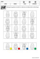 Discrimination visuelle – Les oeufs – Pâques : 1ere Maternelle – Cycle Fondamental