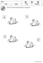 Nombres – Quantités – Pâques : 1ere Maternelle – Cycle Fondamental