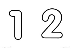 Chiffres de 1 à 9 à décorer – Ecriture de nombres : 3eme Maternelle – Cycle Fondamental