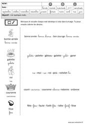 Fête des rois – Nouvel an – Lire des mots en cursive : 3eme Maternelle – Cycle Fondamental