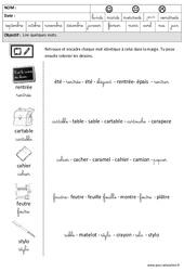 Rentrée – Lire des mots en cursive : 3eme Maternelle – Cycle Fondamental