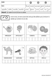 Son [O] dans la syllabe – Phonologie : 3eme Maternelle – Cycle Fondamental