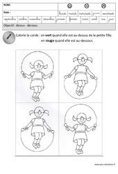 Dessus – Dessous – Espace : 3eme Maternelle – Cycle Fondamental