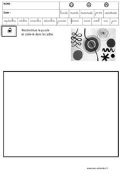 Calder – Puzzle – Logique : 3eme Maternelle – Cycle Fondamental