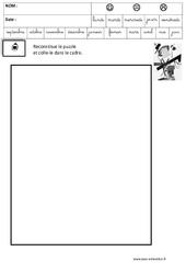 Malevitch – Puzzle – Logique : 3eme Maternelle – Cycle Fondamental