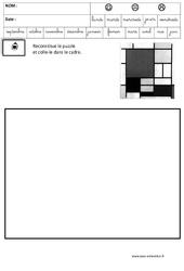 Mondrian – Puzzle – Logique : 3eme Maternelle – Cycle Fondamental