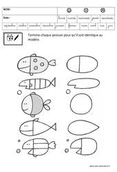 Terminer un dessin – Logique : 3eme Maternelle – Cycle Fondamental
