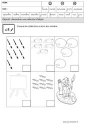 Compte et écris – Quantités et nombres : 3eme Maternelle – Cycle Fondamental