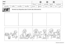 Images séquentielles – Crêpes – Chandeleur : 3eme Maternelle – Cycle Fondamental