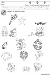 Trouver les objets de Noël – Logique – Trouver l'intrus – Noël : 3eme Maternelle – Cycle Fondamental