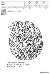 Coloriage codé – Pâques : 3eme Maternelle – Cycle Fondamental